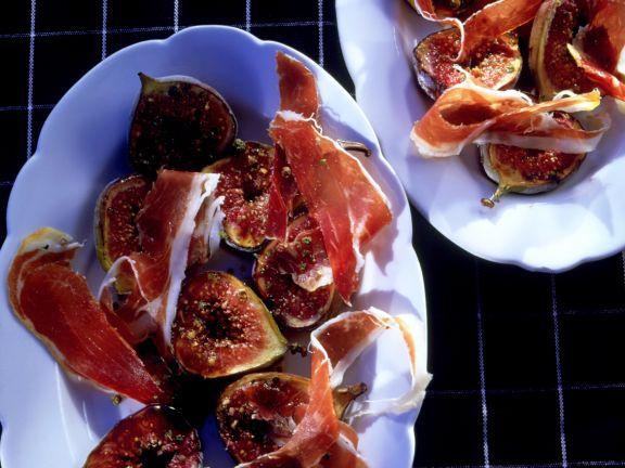 Figs with Serrano Ham