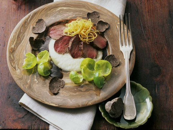 Gourmet Sliced Venison with Sprouts