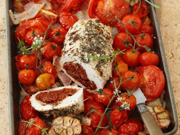 Filled Chicken with Tomatoes