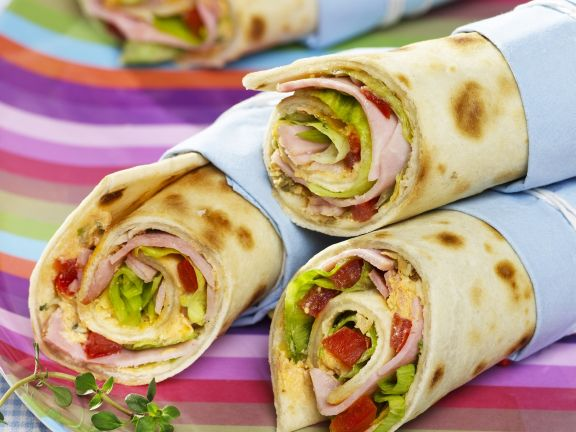Filled Tortilla with Ham and Cheese