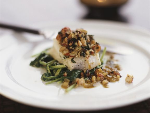 Fish and Pine Nut Topping