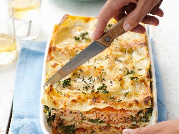 Fish and Soft Cheese Pasta Bake