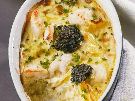 Fish, Broccoli and Cauliflower Casserole
