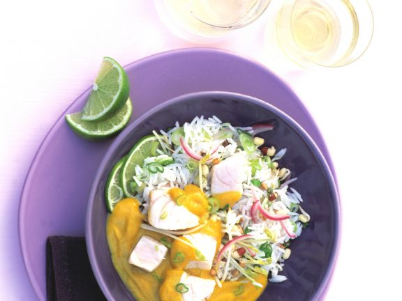 Fish Curry with Basmati Rice and Lime
