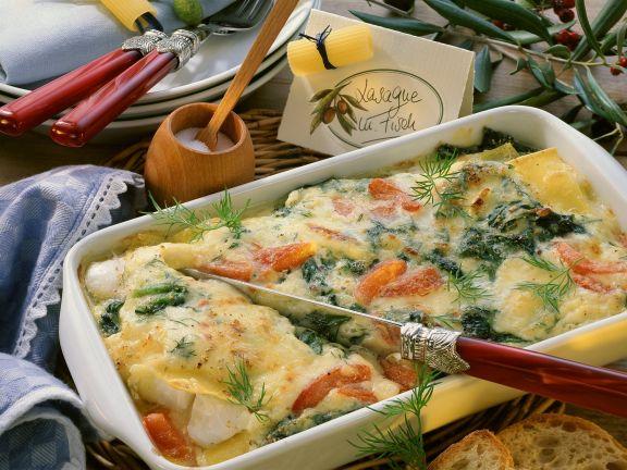 Creamy Fish and Pasta Bake