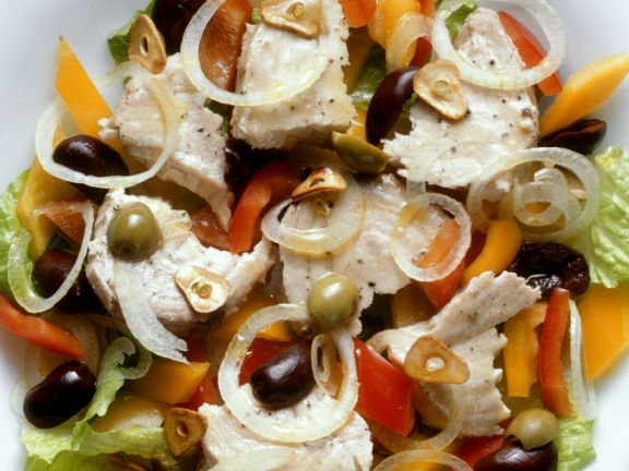 Fish Salad with Olives Spanish Style