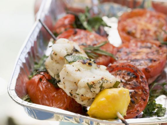 Fish Skewers with Tarragon