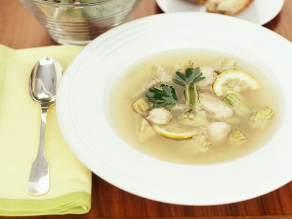 Fish Soup with Oysters and Artichokes