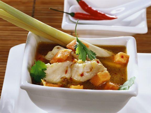 Fish Soup with Papaya and Lemongrass