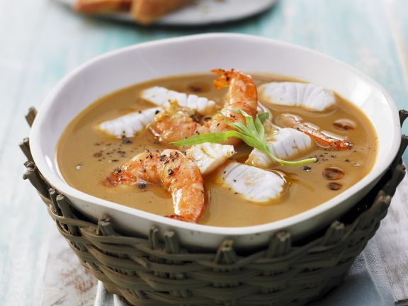 Fish Soup with Shrimp and Tomatoes