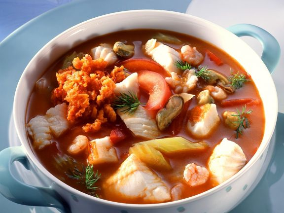 Fish Soup with Vegetable Relish