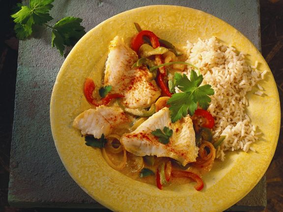 Fish with Bell Pepper Ragout