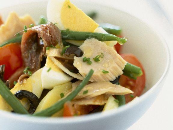 Flakey Fish and Bean Salad
