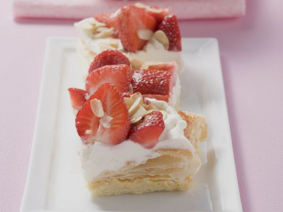 Flakey Pastry Squares with Fruit