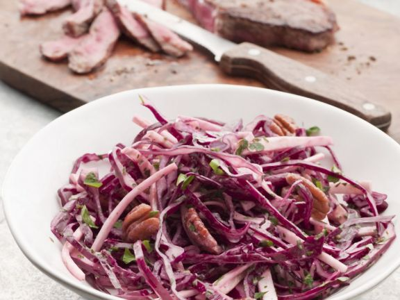Flank Steak with Shredded Red Cabbage Salad