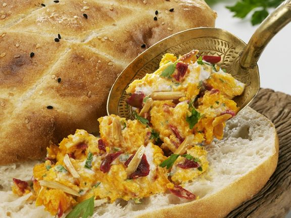Flatbread with Carrot Spread