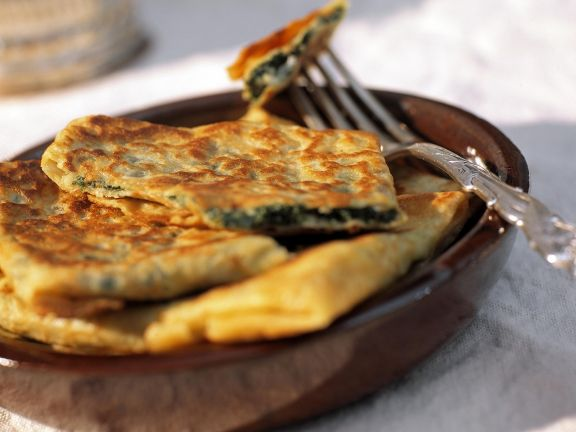Flatbread with Feta and Spinach Filling