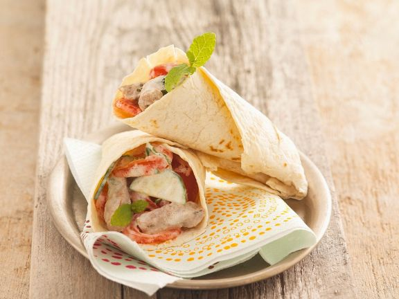 Flatbread Wraps with Meat Filling