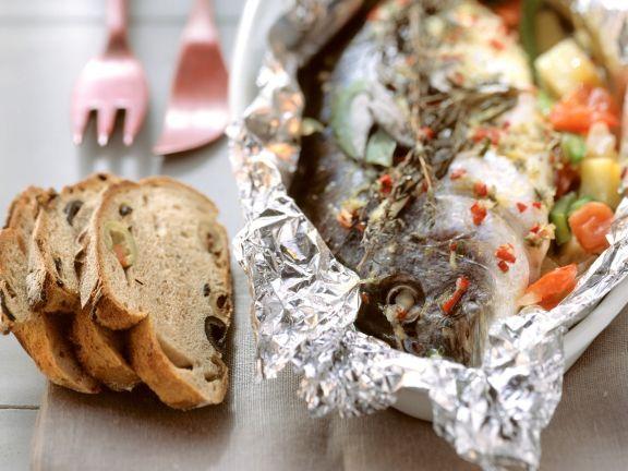 Foil-baked Sea Bream