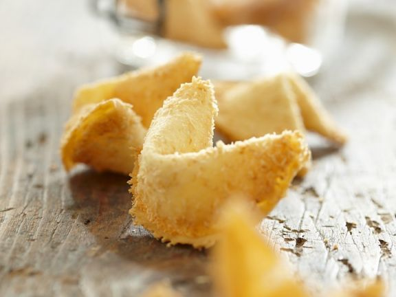 Fortune Cookies with Coconut Flakes