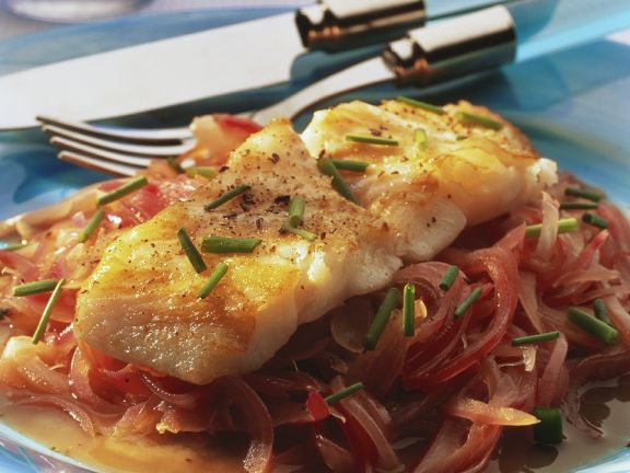 Fried Cod with Onions