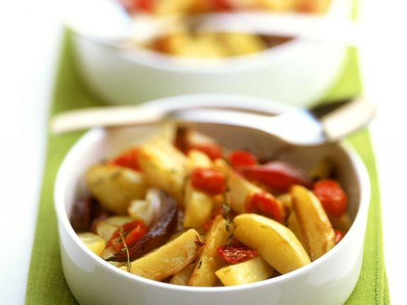 Fried Potatoes With Onions And Tomatoes Recipe Eat Smarter Usa