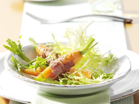 Frisee with Prosciutto-Wrapped Carrots
