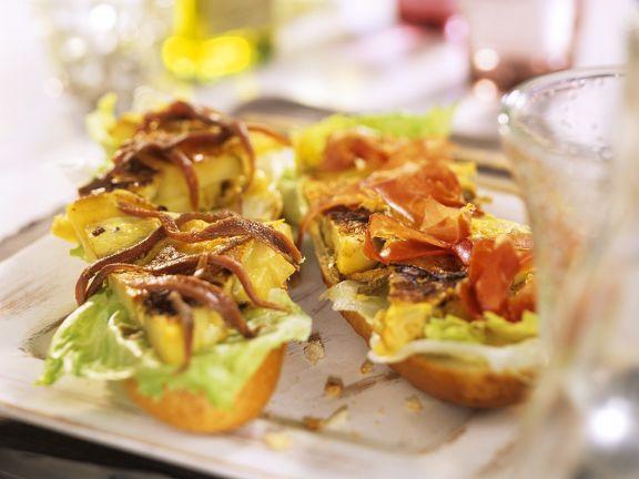 Spanish Ham Sandwich Bites