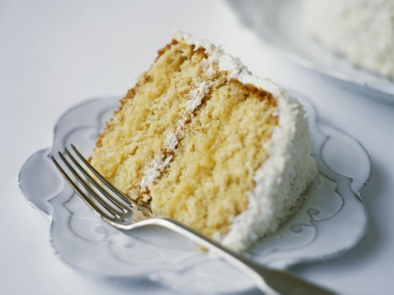 Frosted Coconut and Mascarpone Layer Cake