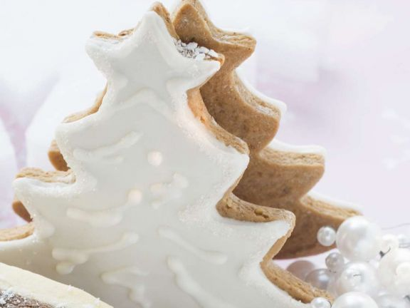 Frosted Gingerbread Trees