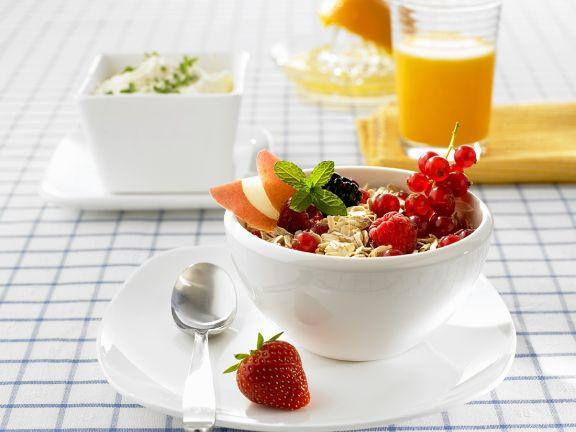 Fruit Yogurt, Herb Quark and Freshly Squeezed Orange Juice
