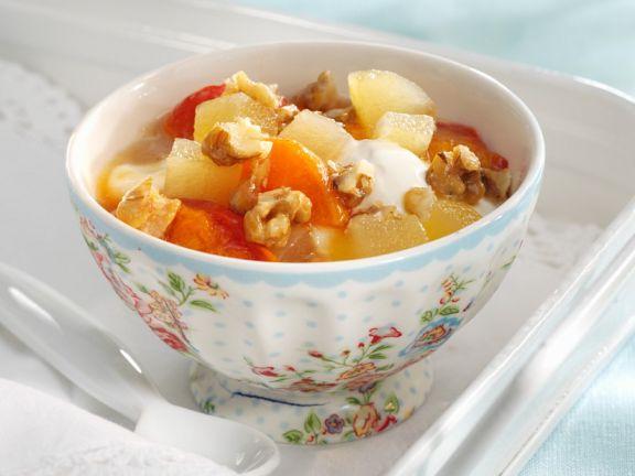 Fruit Yogurt with Walnuts