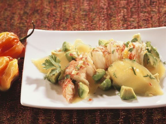 Fruity Avocado Salad with Lobster