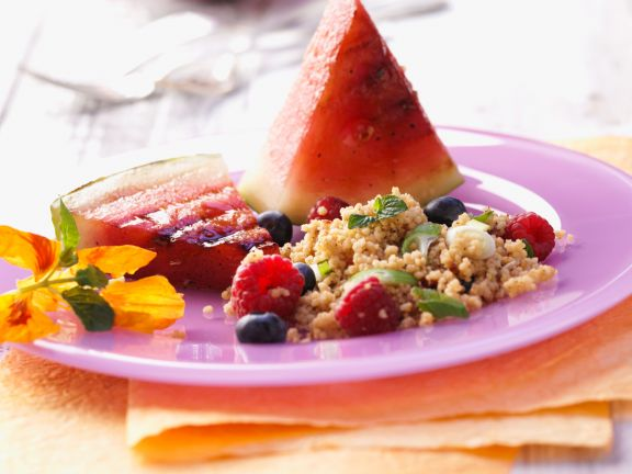 Fruity Couscous Salad with Grilled Watermelon