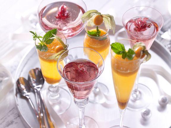Fruity Sparkling Wine Cocktails