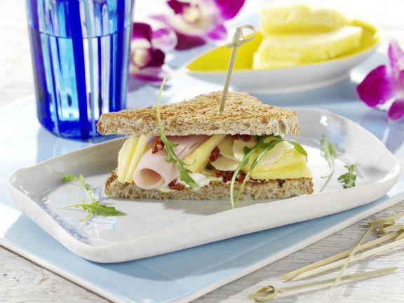 Fruity Turkey Sandwiches and Creamy Sun-Dried Tomato Sandwiches