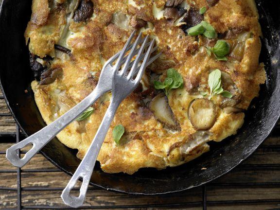 Garlic Mushroom Pancake