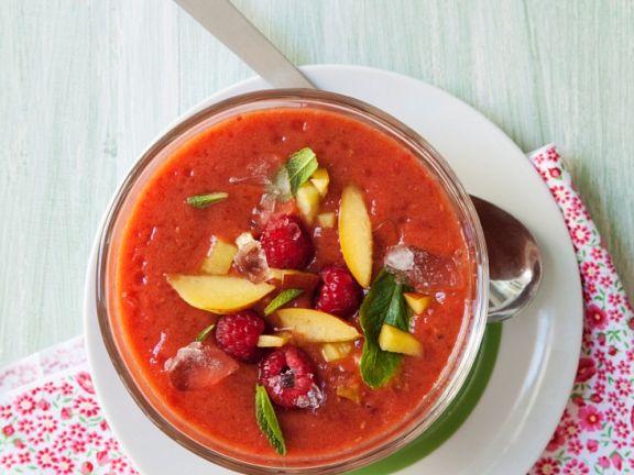 Gazpacho with Berries and Nectarines