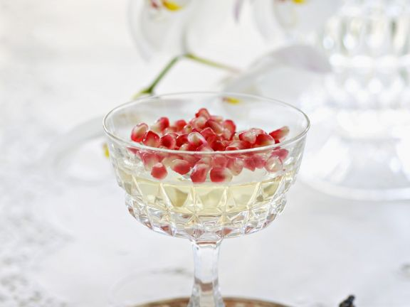 Gelatine Pudding with Jewelled Topping