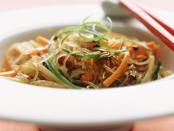 Glass Noodle Salad with Carrots and Cucumber