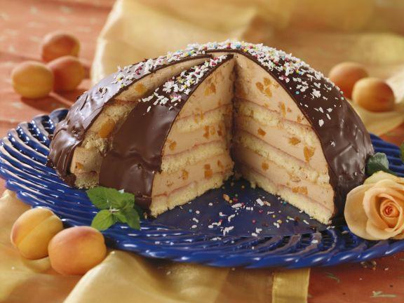 Glazed Apricot Dome Cake