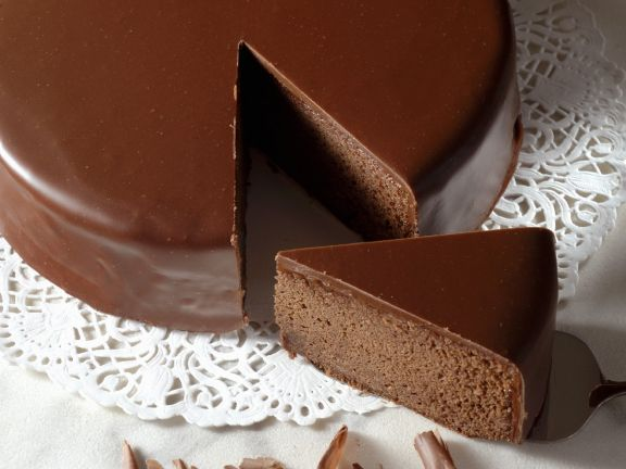 Glazed Rich Chocolate Gateau