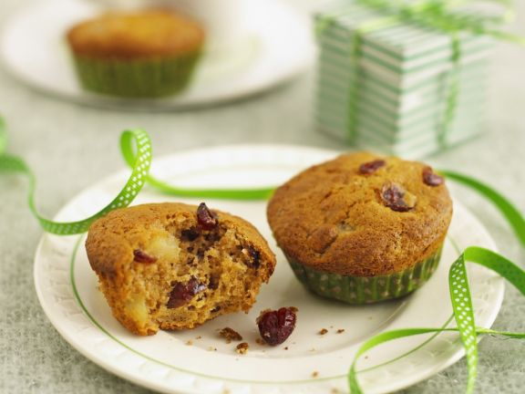 Gluten Free Apple, Cranberry and Cinnamon Muffins