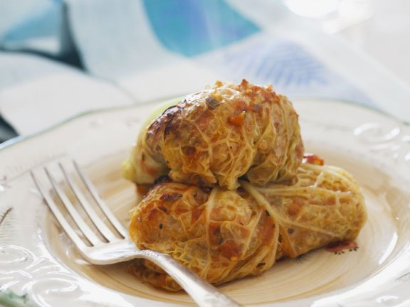 Gluten Free, Dairy Free Quinoa Stuffed Cabbage Rolls