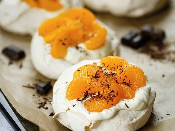 Gluten Free Orange and Chocolate Meringues