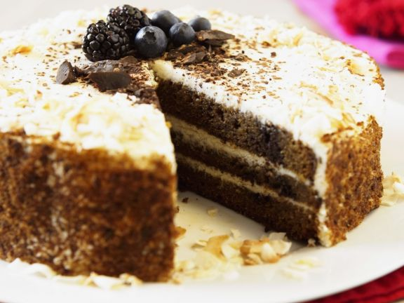 Gluten-Free Pumpkin, Coconut, and Chocolate Cake