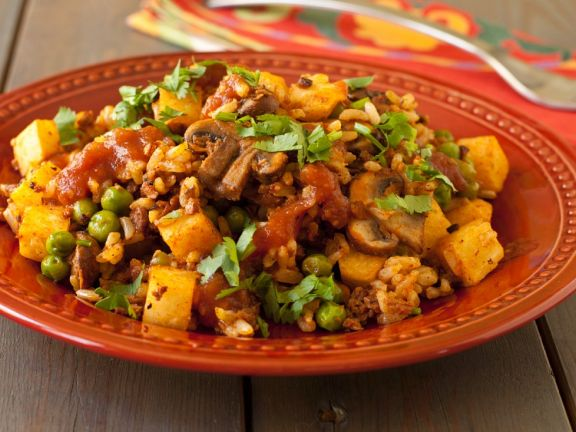 Gluten Free Spicy Chorizo and Vegetable Rice