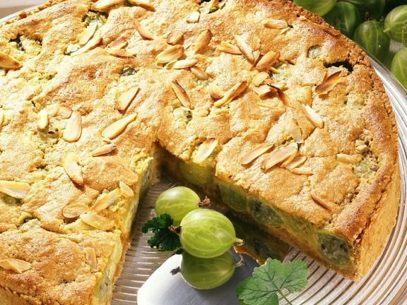 Gooseberry and Almond Pie