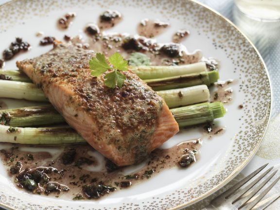 Gourmet Fish Dish with Scallions