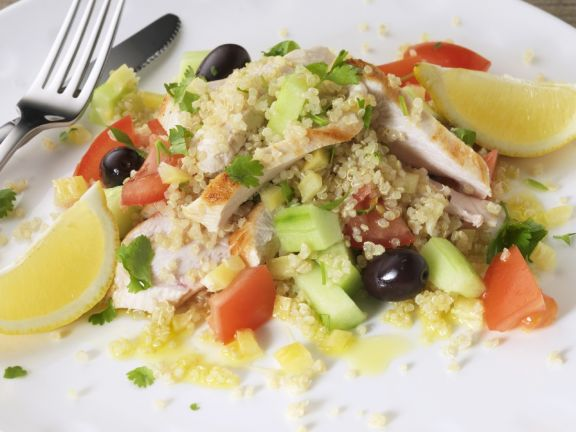 Grain and Chicken Salad with Lemon